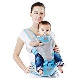 Sulida Hipseat Ergonomic Baby Carrier Backpack (Blue)