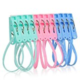 Dealglad® 12 Pcs Multifunctional Travel Hanger Windbreak Straps Bra Socks Rack Laundry Clip