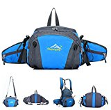 Multifunctional 4-in-1 Sports Bag, MALEDEN Weatherproof High Capacity Outdoor Activities Backpack Waist Flipbelt for Cycling, Hiking and Casual, Travel Daypack with Water Bottle Holders