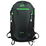 Eshow Unisex Nylon Lightweight Outdoor Sports Hiking Daypack Travel Backpack Camping Bag Rucksack 30L, Black