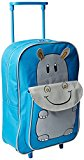 Karabar Wildlife Kids Trolley Bag (Blue Hippo)