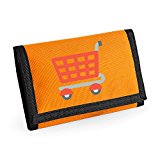 Apparel Printing Emoji Shopping Trolley Ripper Wallet, Orange