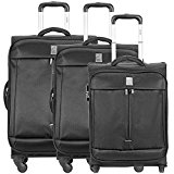 Delsey Flight 4- / 2 Wheels Trolley Luggage Set 3 pcs. schwarz