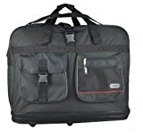 5 Cities® Super Lightweight Durable Expandable Luggage Holdall (Black)