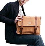 Retro PU Leather Duffle Cross Body Bag For Men Travel Messenger Bag