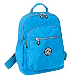 Fansela(TM) Sports Travel Nylon Backpack Ocean Blue