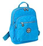 Fansela(TM) Sports Travel Nylon Backpack Ocean Blue