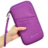 Passport Holder / Wallets / Case Organizer Durable Waterproof Travel Wallet Purse with Hand Strap Document Organizer