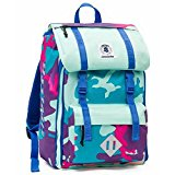 Backpack INVICTA Square Plain Color Camou - cm. 39.5 x 27 x 22.5 LT28, Azzurro Lilla Camou (Multicolour) - 206001646