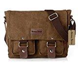 Bronze Times European Style Fashion Cotton Canvas Shoulder Bag(Coffee)