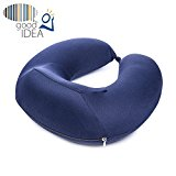 Travel Pillow with Neck Support - Soft Comfortable - Memory Foam - Easy To Carry Compact Size Lightweight - For Airplanes, Cars Driving, Trains, Office Napping, Reading, Wheelchairs, Homes