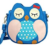 Owl Faux Leather Girls Shoulder Bag W2019 - Blue