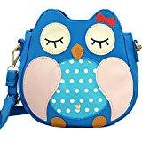 Owl Faux Leather Girls Shoulder Bag W2019 - Blue