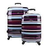 Swiss Case 4 Wheel 2Pc Suitcase Set PURPLE