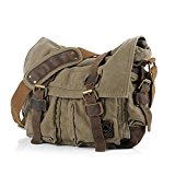 OFTEN (TM) Unisex Trendy Colonial Italian Style Messenger Bag with Leather Straps