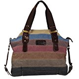 KISS GOLD(TM) Women's Canvas Multi-Color Shopper Tote Shoulder Bag (Multi-Color-Model A)