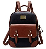 Tinksky Women Backpack Shoulder Bag Travel Bag Ladies Leather Vintage School Bag