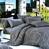 Blancho Bedding - [Reminiscent Mood] Luxury 5PC Bed In A Bag Combo 300GSM (UK Single Size)/ (US Twin Size)