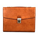 Cristina Rui - Leather Professional Briefcase - Color: Honey - Dimensions: 36x8x29