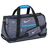 Nike Golf Duffle Bag Silver/Blue Holdall Carryall Bag Kitbag Gymbag Sportsbag H: 26cm; W: 50cm; D: 26cm.
