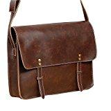 PU Leather Leisure Shoulder Messenger Bag For Men's Purse Crossbody Carry On Bag
