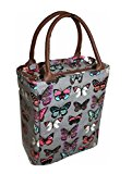 Ava Butterfly Insulated Lunch Tote Bag, Grey