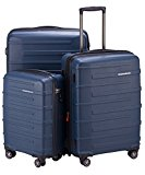 HAUPTSTADTKOFFER - Ostkreuz - Set of 3 Hard-side Luggages Trolley Hardside Suitcase Expandable, TSA, (S, M & L), Blue