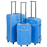 3 x Penn Lightweight Trolley Suitcase Set - Size: 28