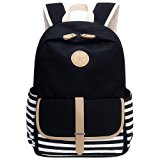 Bagerly Lightweight Canvas Laptop Bag Shoulder Daypack School Backpack Causal Handbag