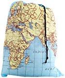 Kikkerland Travel Laundry Bag - World Map