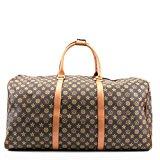Unisex Large Leather Look Sports Gym Travel Golf Holdall Luggage Duffle Weekend Bag UK Coffee