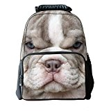 MeMoreCool Unisex School Backpack Bags 3D Vivid Animal Print Felt Fabric Hiking Daypacks Personality Backpack