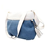 GSPStyle Women Denim Tassel Decorative Cross Body Shoulder Casual Daily Bag