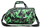 YAAGLE Camouflage Gym Totes Sports Bag Shoudler Handle Bag